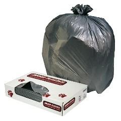 33x39 1.1mil Grey Trash Can Liners 100/cs