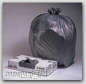 "40x46 "" 1.3-mil Gray LDPE Trash Bags Bulk Pack 100/cs"