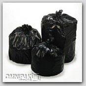 "43x47"" 56gl 2.0mil Black Trash Can Liners 100/cs"