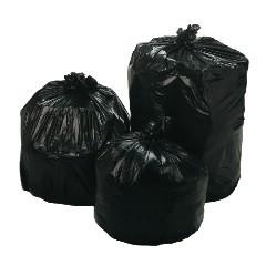 "43x47"" 56gl 1.5mil Black Trash Can Liners 100/cs"