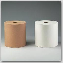 "7.85""x800ft/rl White KCC 01040 SCOTT Hardwound Roll Towels 12rl/cs"