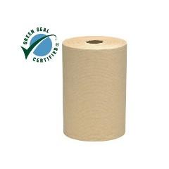 "8""x800ft/rl Brown KCC 02031 SCOTT Hardwound Roll Towel 100% Recycled Fiber 12/cs"