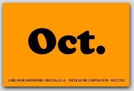 "2x3"" October Rectangle Labels 500/rl"
