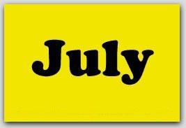 "2x3"" July Rectangle Labels 500/rl"