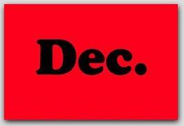 """2x5"""" December Rectangle Labels 500/rl"""