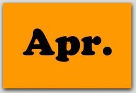 "2x5"" April Rectangle Labels 500/rl"