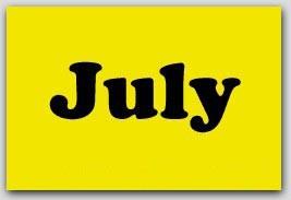 "2x5"" July Rectangle Labels 500/rl"