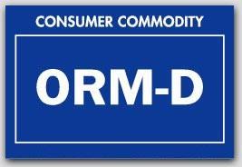 "2x3"" Labels ORM-D Consumer Commodity 1000/rl"