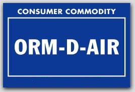 "2x3"" Labels ORM-D-AIR Consumer Commodity 1000/rl"