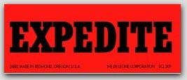 "1x2-1/2"" Expedite Labels 500/rl"