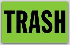 """2-1/2x4"""" Trash Shipping Labels 500/rl"""