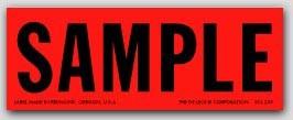 "1-1/2x4"" Sample Shipping Labels 500/rl"