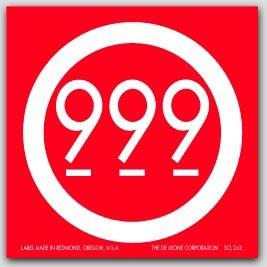 "4x4"" 999 Labels 500/rl (Meets Military Standard)"