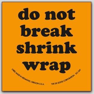 "2x2"" Do Not Break Shrink Wrap Labels 500/rl"