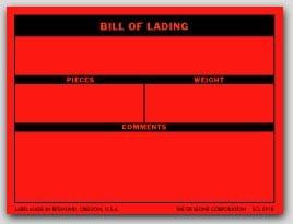 "3x4"" Bill of Lading Shipping Labels 500/rl"