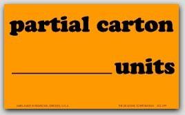 "3x5"" Partial Carton Shipping Labels 500/rl"