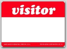 """3-1/2x2-1/2"""" Vistor Labels 500/rl"""