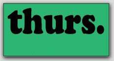 "1-1/2x3"" Thursday Rectangle Labels 500/rl"