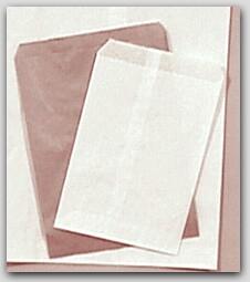 14-1/2x3x21 White Paper Merchandise Bags - 500/cs