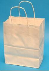 16x6x13 White Paper Shopping Bags - 250/cs