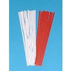 """8"""" Red Paper Twist Ties 2000/bx"""
