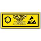 "1x2-1/2"" Attention Electrostatic Sensitive Devices 1000/rl"