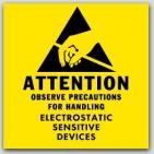 "2x2"" Attention Electrostatic Sensitive Devices 1000/rl"