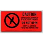 "1-1/2x3"" Caution Do Not Open Labels 1000/rl"