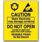 "3x3-1/2"" Caution Do Not Open Labels 500/rl"