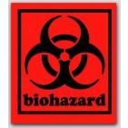 "3-1/2x4"" Labels Biohazard 500/rl"