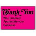 "1x1-1/2"" Thank You Labels 500/rl"