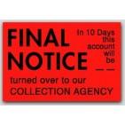 "1x1-1/2"" Final Notice Labels 500/rl"
