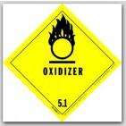 "4x4"" Class 5 Oxidizer Vinyl Labels 500/rl"