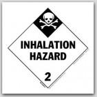 "4x4"" Class 2 Inhalation Hazard Paper Labels 500/rl"