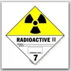 "4x4"" Class 7 Radioactive 2 Paper Labels 500/rl"
