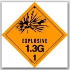 "4x4"" Class 1.3g Explosives Paper Labels 500/rl"