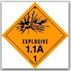 "4x4"" Class 1.1a Explosives Paper Labels 500/rl"