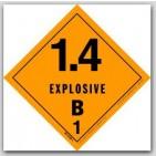 "4x4"" Class 1.4b Explosives Vinyl Labels 500/rl"