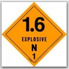 "4x4"" Class 1.6n Explosives Vinyl Labels 500/rl"