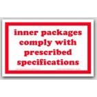 """3x4-1/4"""" Cryogenic Liquid Paper Labels 500/rl"""