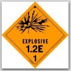 "4x4"" Class 1.2e Explosives Paper Labels 500/rl"