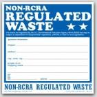 "6x6"" Non RCRA Regulated Waste Vinyl Labels 100/pkg"