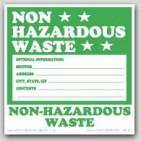 """6x6"""" Non Hazardous Waste Vinyl Labels 100/pkg"""