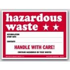 """4x6"""" Hazardous Waste Paper Labels 100/pkg"""