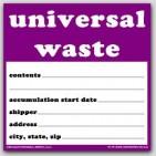 "6x6"" Universal Waste Vinyl Labels 100/pkg"