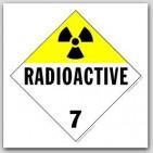 Radioactive Class 7 Self Adhesive Vinyl Placards 25/pkg