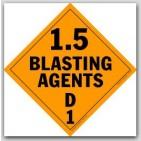 Class 1.5 Blasting Agents Self Adhesive Vinyl Placards 25/pkg