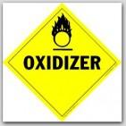 Oxidizer Class 5 Self Adhesive Vinyl Placards 25/pkg