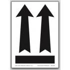 """3x4-1/4"""" Arrow Up Labels 500/rl (Vinyl, Meets military standard.)"""
