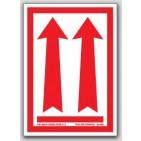"4x6"" Arrow Up Labels 500/rl (Meets military standard.)"